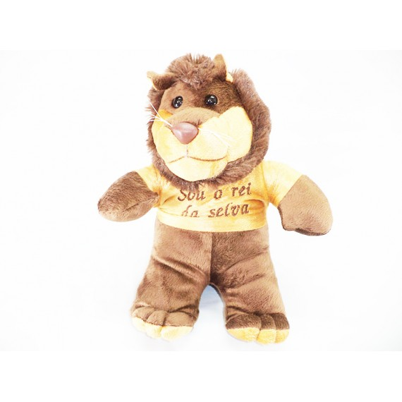 Leão de Pelúcia Rei da Selva, Tamanho 30 cm