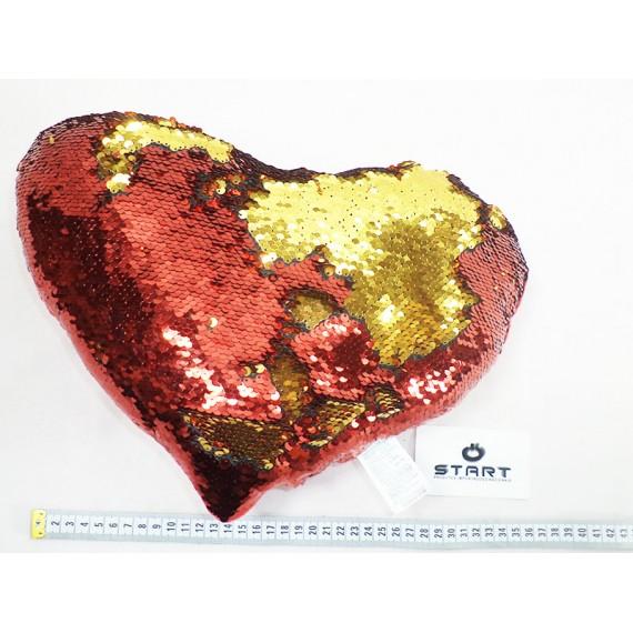 Almofada Coração Brilhante Colorida