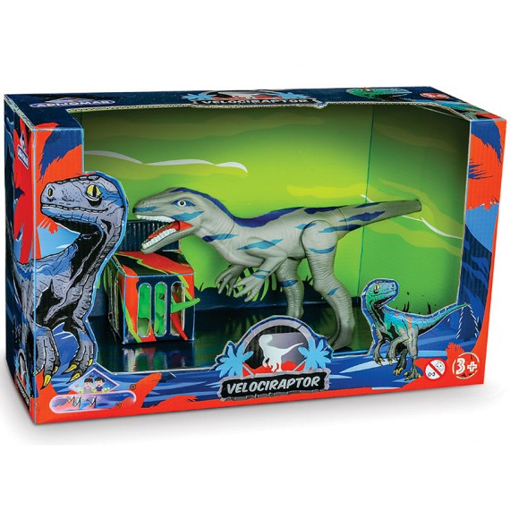Dinossauro Velociraptor na Caixa