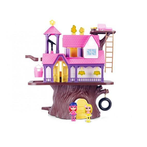 Casa na Árvore com Bonecas e Acessórios