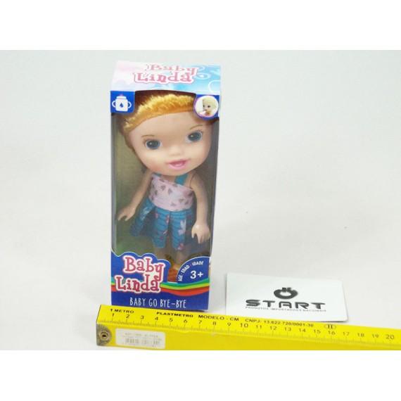 Brinquedo Boneca de Plástico Baby Linda