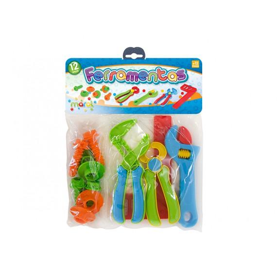 Kit Ferramentas - 12 Peças em Plástico