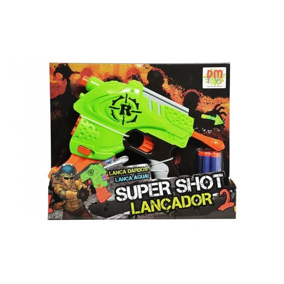 Pistola Super Shot Lançador 2 em 1 (Dardos e Água)