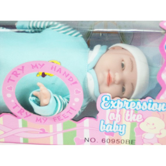 Boneca Baby de Borracha Expressões Faciais