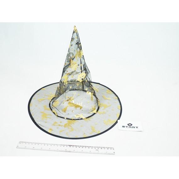 Chapéu de Bruxa Decorado Transparente