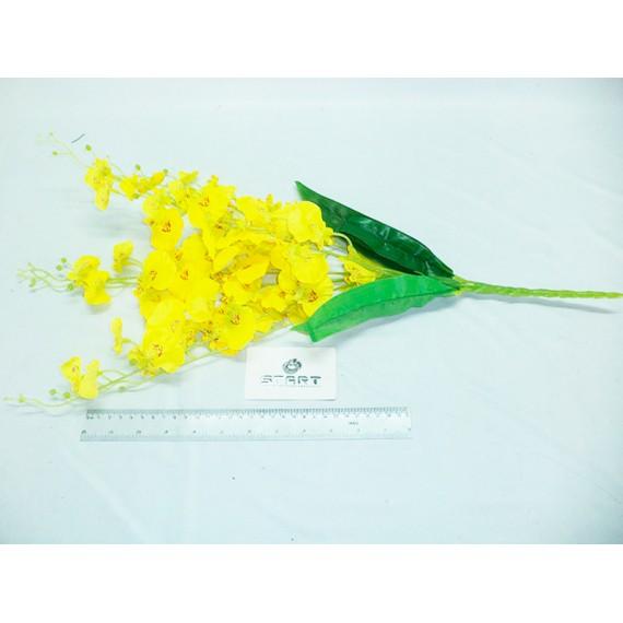 Flor de Orquídea Chuva de Ouro com 7 Galhos