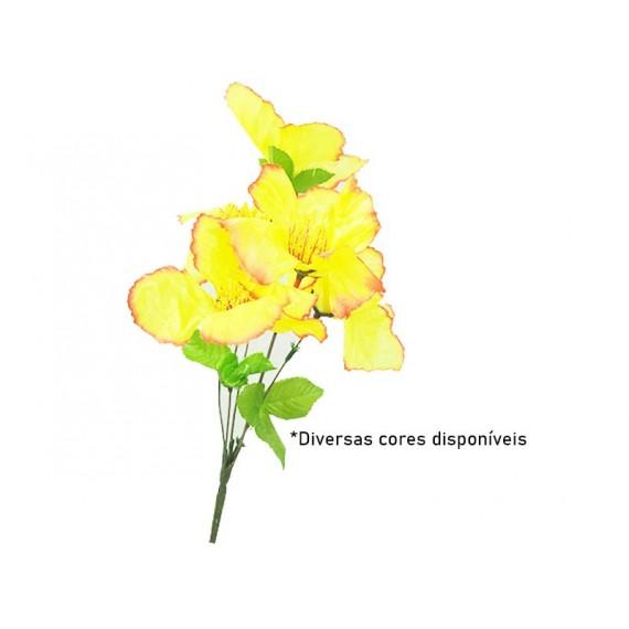 Galho com 5 Flores Artificiais - Diversas Cores
