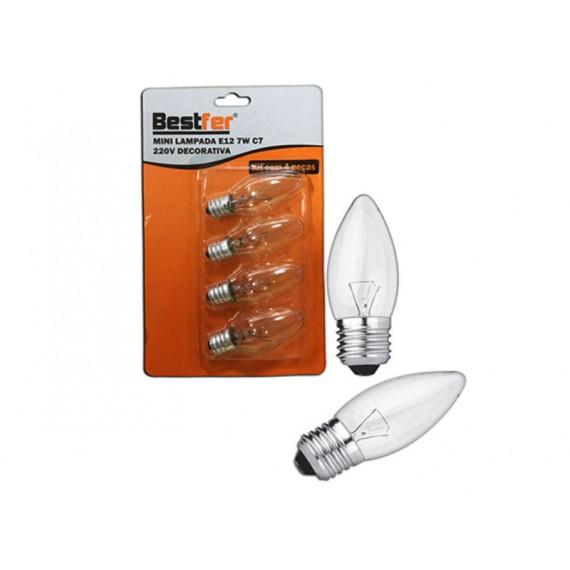 Kit Mini Lâmpadas 4 Peças E12 220V 7 Watts