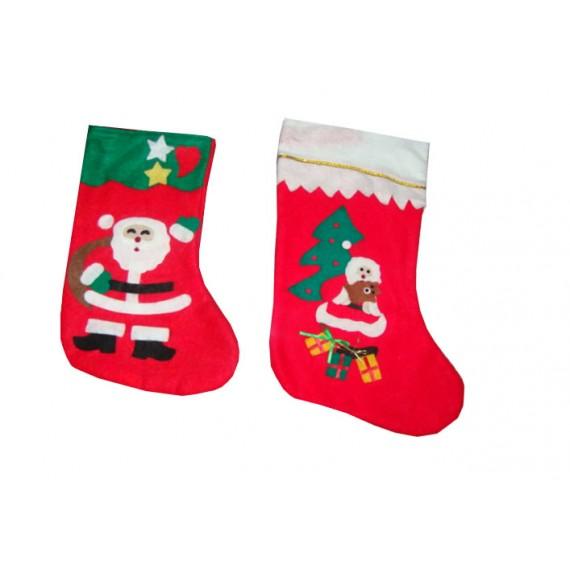 Bota Papai Noel Feltro 38cm