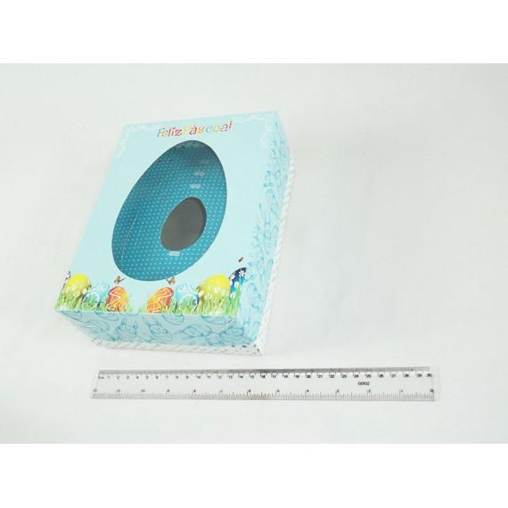 Caixa para Ovo de Colher com Visor (Ovo de 100, 250, 350 ou 500 gramas) Feliz Páscoa