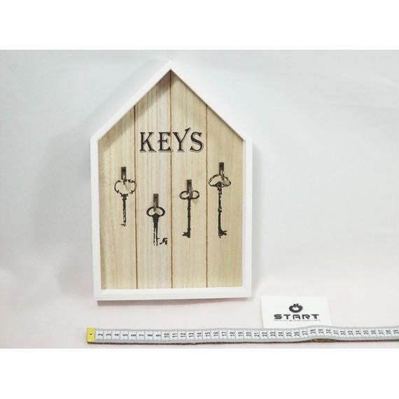 Porta Chave de Madeira Formato Casa