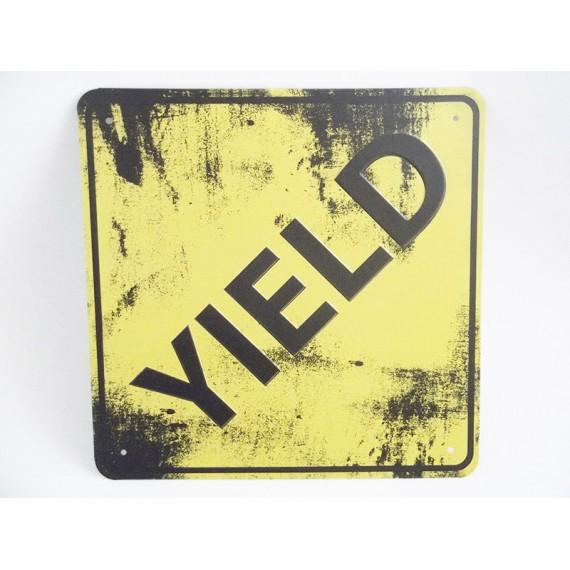 Placa de Metal Yield (Significado em Inglês: Lucro)