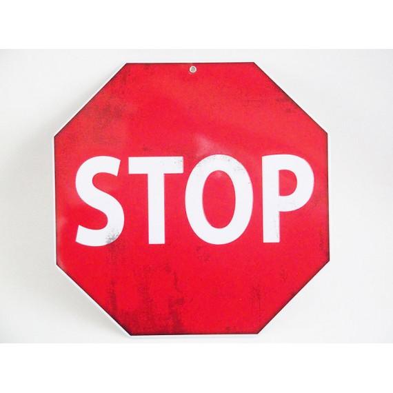 Placa de Metal Stop