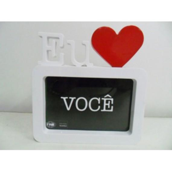 Porta Retrato de Plástico 10 x 15 cm: Eu Amo Você