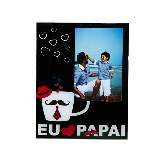 Porta Retrato de Vidro Pai 15 x 20/ 20 x 15 cm, Vários Modelos