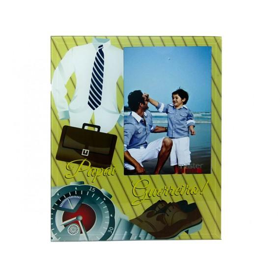 Porta Retrato de Vidro Pai 10x15/ 15x10 cm, Vários Modelos