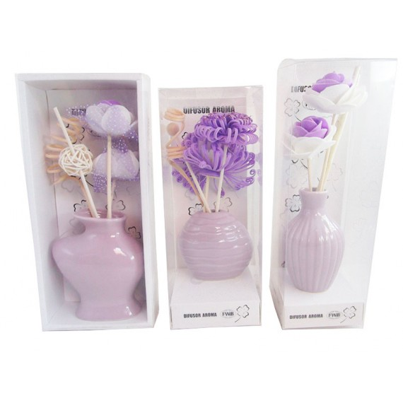 Difusor Aroma Porcelana com Flor