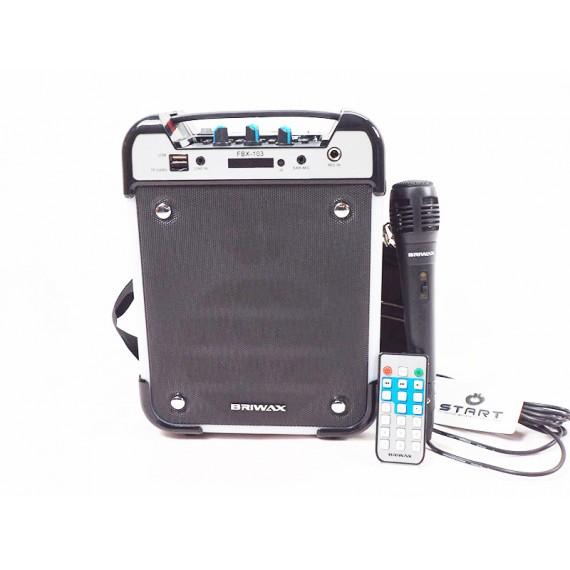 Caixa de Som Recarregável com Microfone, FM, USB, Cartão