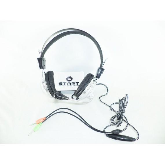 Fone de Ouvido com Microfone Stereo com Controle de Volume