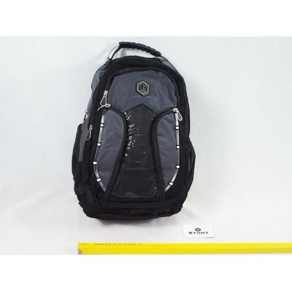 Mochila para Notebook/Laptop Executiva com Alça em Aço - Cinza/Preto