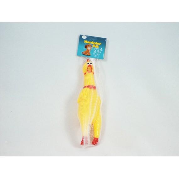 Mordedor de Borracha Pet - Galinha 17 cm com Som